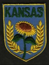 VINTAGE KANSAS EMBROIDERED CLOTH SOUVENIR TRAVEL PATCH - $9.95