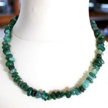 Collar de Plata 925 con Ágata Verde Bandas, 50 o 75cm Largo image 1