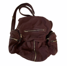 ALEXANDER WANG Marti Lambskin Leather Backpack Rare Burgundy Purse Bag image 1