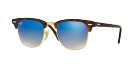 New Genuine Ray Ban 3016 1145/17 Clubmaster Havana Tortoise Sunglasses 51mm - $91.10
