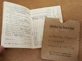 1918 antique WWI SOLDIER PAY BOOK denver pa STEPHEN FIRESTONE cigarmaker... - $124.95