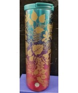 NWT Starbucks Fall 2020 blue/ pink Ombré Rose hot cup Coffee Tumbler - $39.99