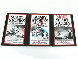 3 Book Set SCARY STORIES to Tell in the Dark Childrens GIFT Scholastic M... - $14.54