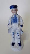 Ceramic George Washington Figurine Blue Hat Blue Shoes On Tree Vintage W... - $9.78