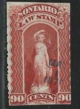CANADA REVENUES - ONTARIO LAW STAMP OL56 - $2.26