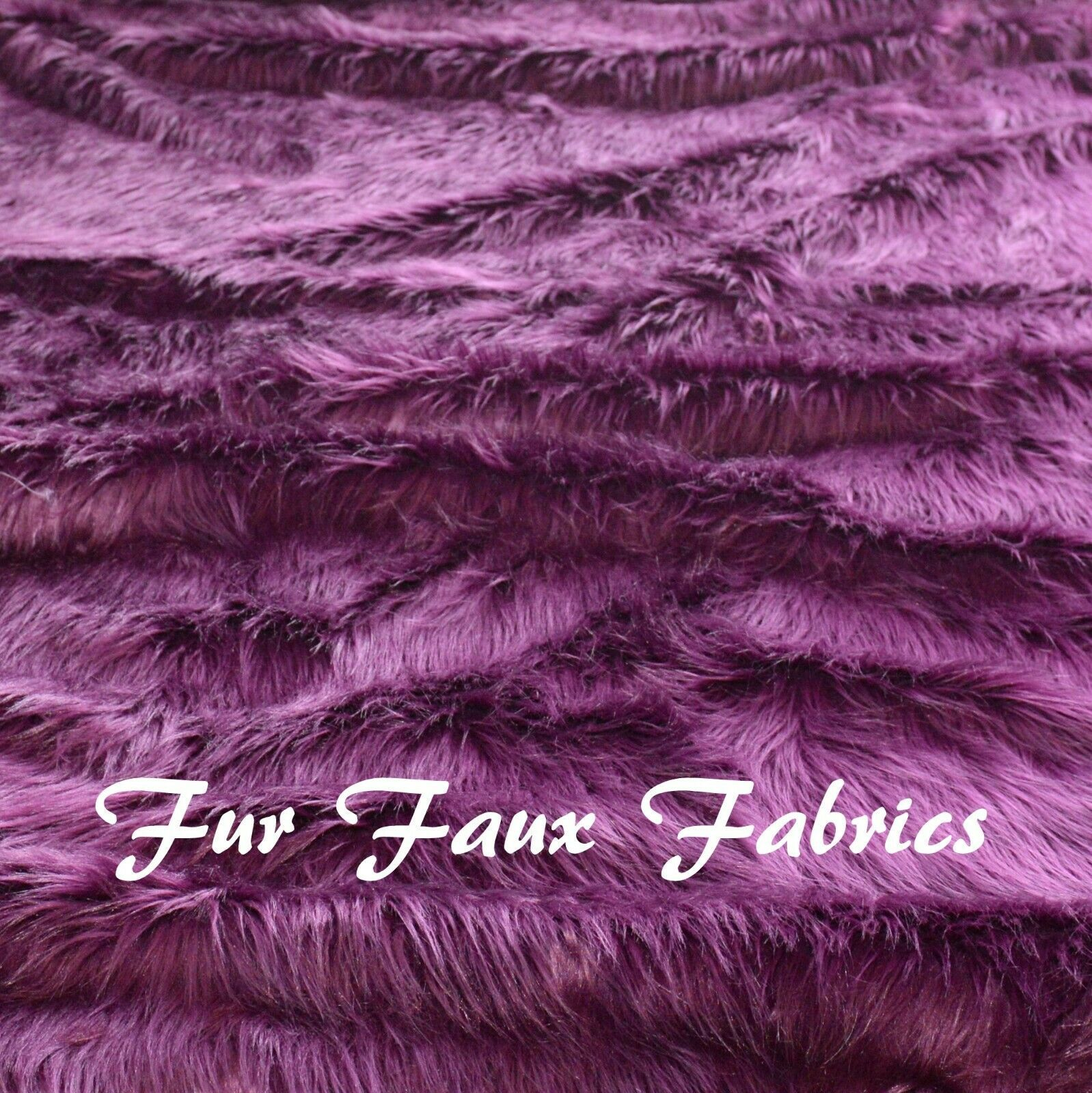 "Primary image for Eggplant Shaggy Faux Fur Fabrics By the Yard 60"" Width One Yard"