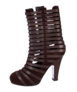NWOB BOTTEGA VENETA Brown Cage Boots SZ 36.5 Made in Italy - $321.75