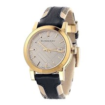 Burberry BU9032 The City Gold-Tone Leather Men's Watch - $426.08