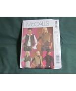 MCCALLS M5187 MISSES VEST SHRUG JACKET SEWING PATTERN SZ 6 TO 12 - $5.50