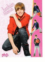 Justin Bieber teen magazine pinup clipping Japan pink girl let's play basketball