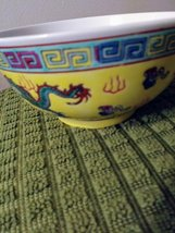 Vintage Chinese Porcelain Bowl,Oriental Decor, Hand Pained Dragon Phoenix ,Asian image 4