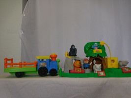 Little People Farm Petting Zoo Play Set Animal Sounds Musical + Choo Choo Zoo Tr - $32.68