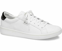 Keds WH59818 Women's Ace Mirror Leather White/Black Shoes, 6 Med - $69.25