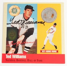TED WILLIAMS HOF Legends of Baseball SILVER COIN AUTOGRAPHED w GREEN DIA... - $99.00