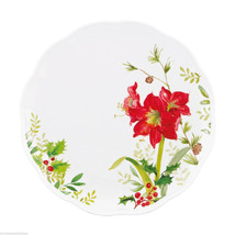 Lenox Winter Holiday  Meadow Amaryllis Dinner Plate NEW - $34.65