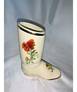 Blue Ridge Southern Potteries Hand Painted Ceramic Boot Vase Planter - $32.00