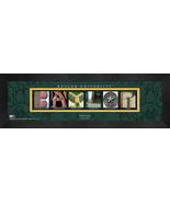 Personalized Baylor University Campus Letter Art Framed Print - $39.95