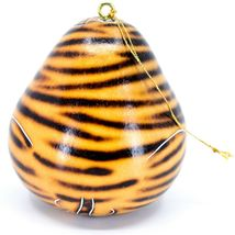 Handcrafted Carved Gourd Art Zebra Zoo Animal Ornament Made in Peru image 3
