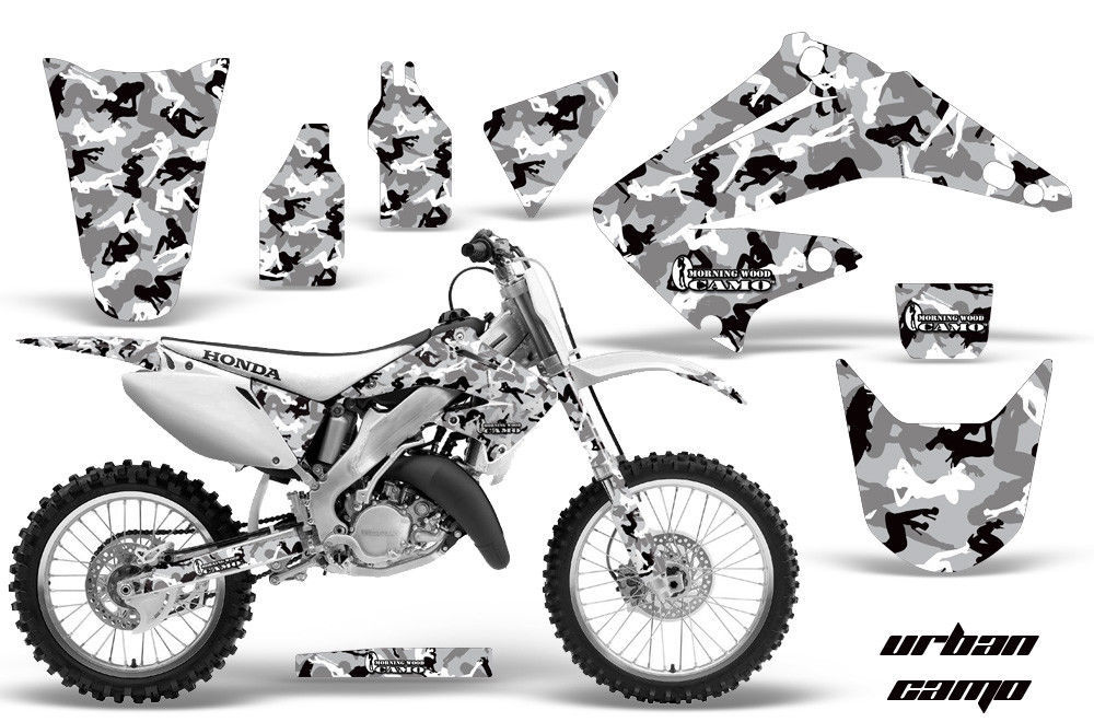 dirt bike graphics kit decal wrap for honda cr125r cr250r