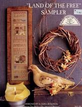 Land Of The Free Sampler Homespun Elegance Cross Stitch Pattern Leaflet - $2.67