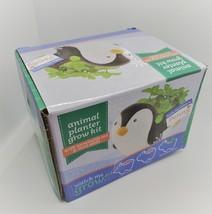 Penguin Animal Planter Grow Kit, ceramic pot with soil and mint herb seeds image 3