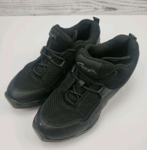 Capezio Fierce Dansneaker Split Sole Size 7 Jazz Hip Hop Shoes Black image 4
