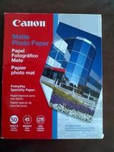 "K462S Canon Photo Paper 50 Sheets 8.5x11"" Matte 8.5 Mil 45Lbs Inkjet Printers - $11.14"