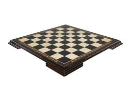 "Wooden chess board BLACK 4 - High quality - Handmade mosaci art - 48 cm / 19"" - $140.16"