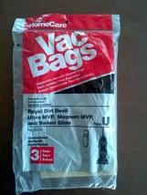 Home Care Type U Vacuum Bags For Royal Dirt Devil, Ultra / Magnum MVP & Swivel - $6.93