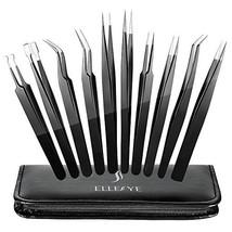 Precision Tweezers Set, ElleSye 10 PCS ESD Tweezer Set, Anti-Static Stai... - $23.29