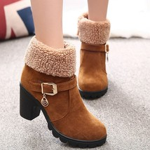 New Autumn Winter Women Boots High Quality Solid Lace-up European Ladies Shoe... - $21.26+