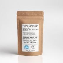 Turmeric Curcumin 700mg with Black Pepper 60 Tablets - Vegan, UK Made - $6.55