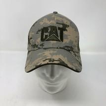 NWT CAT Caterpillar Digital Camo Strap Hat Cap Camouflage Construction - $29.44