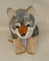 "Wild Republic WOLF 12"" Plush Gray Timber Sitting Stuffed Animal 2011, Used - $11.87"