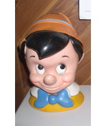 Pinocchio Head  Vintage piggy bank marked Walt Disney Production - $39.99