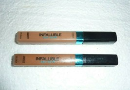 Lot of 2 L'oreal Infallible Pro Glow Concealer 07 Creme Cafe 08 Cocoa  S-11 - $6.89