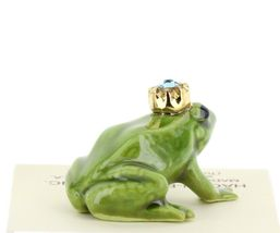 Birthstone Frog Prince March Simulated Aquamarine Miniatures by Hagen-Renaker image 4