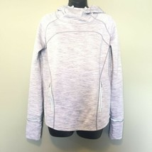 GAP FIT Women's M High Neck Hooded Thumbholes Gray Sweatshirt GapFit - $29.45