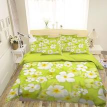 3D White Plumeria 225 Bed Pillowcases Quilt Duvet Single Queen King US Summer - $102.84+