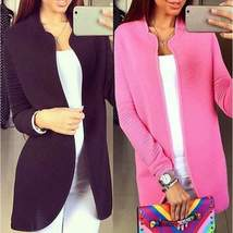 Open Stitch Knitted Women Blazer Cardigan - $24.36