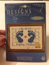 Janlynn Baby Feet Birth Announcement Counted Cross Stitch Kit NEW Sealed - $10.88