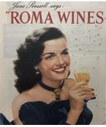 Vintage Print Ad Roma Wines Jane Russell 1948 - 27 1/2 X 10 1/2 - $11.82