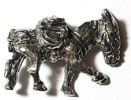 Donkey Mining Mule Gold Rush Fine Pewter Figurine -Approx. 3/4 inch tall  (T244) image 3