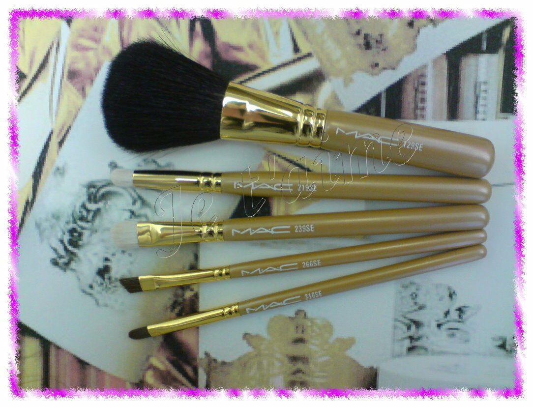 Primary image for RARE MAC Heirlooms Collection: 5 Basic Brushes Set,129/219/239/266/316SE NO BOX