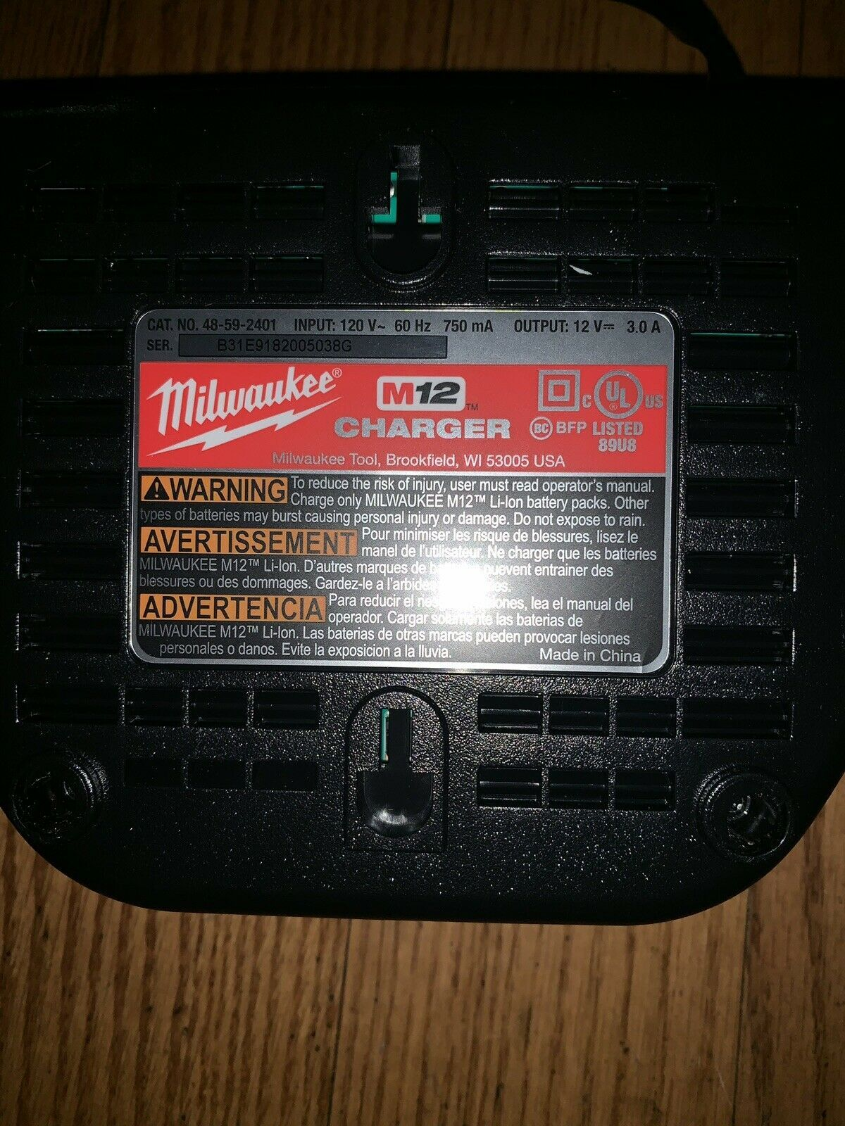 Primary image for Milwaukee 48-59-2401 12V M12 Li-ion Battery Charger - Red/Black