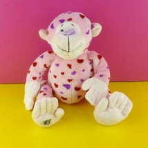 Ganz Webkinz Plush Pink Love Monkey HM343 Stuffed Animal No Code Valenti... - $12.86