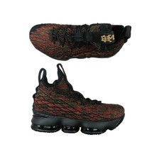 Nike Lebron XV Limited BHM GS Basketball Shoes Size 6.5Y Black Red 94376... - $98.95