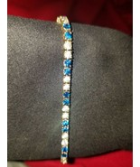 Beautiful Vintage 14k Gold Bracelet with Blue Sapphires from England. - $979.11