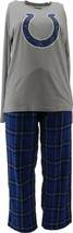 NFL Men's Pajama Set Long Slv Top Flannel Pants Colts XL NEW A387683 - $30.67