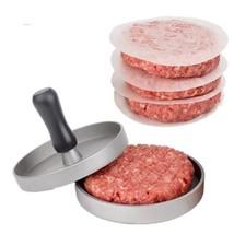 Aluminum Alloy Round Shape Hamburger Meat Beef Grill Burger Press Patty ... - $14.99